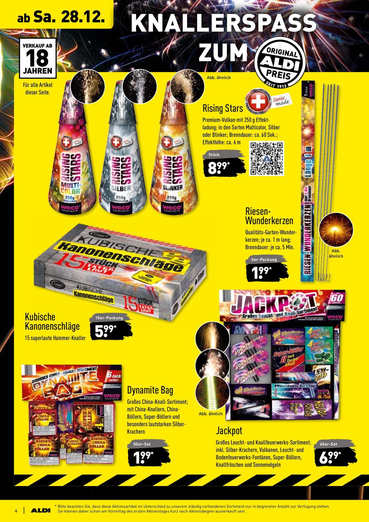 Aldi Prospekt Feuerwerk