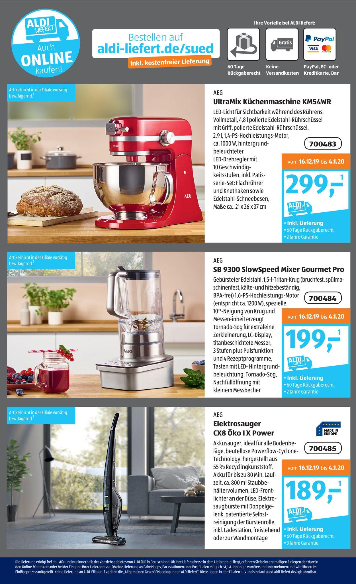 Aldi Online Küchenmaschine 2021