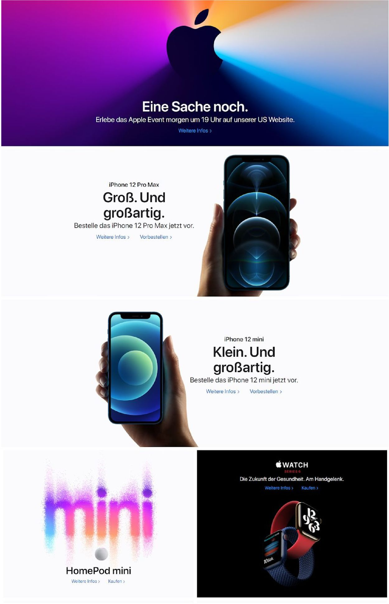 Prospekt Apple vom 10.11.2020
