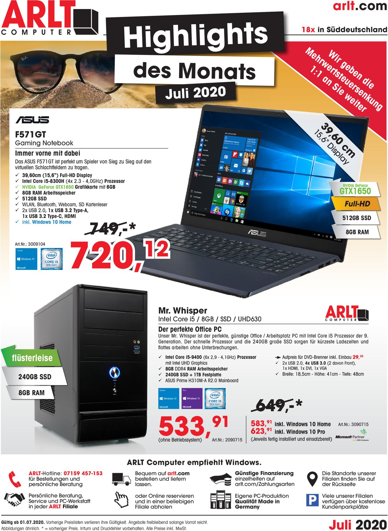 Prospekt ARLT Computer vom 01.07.2020