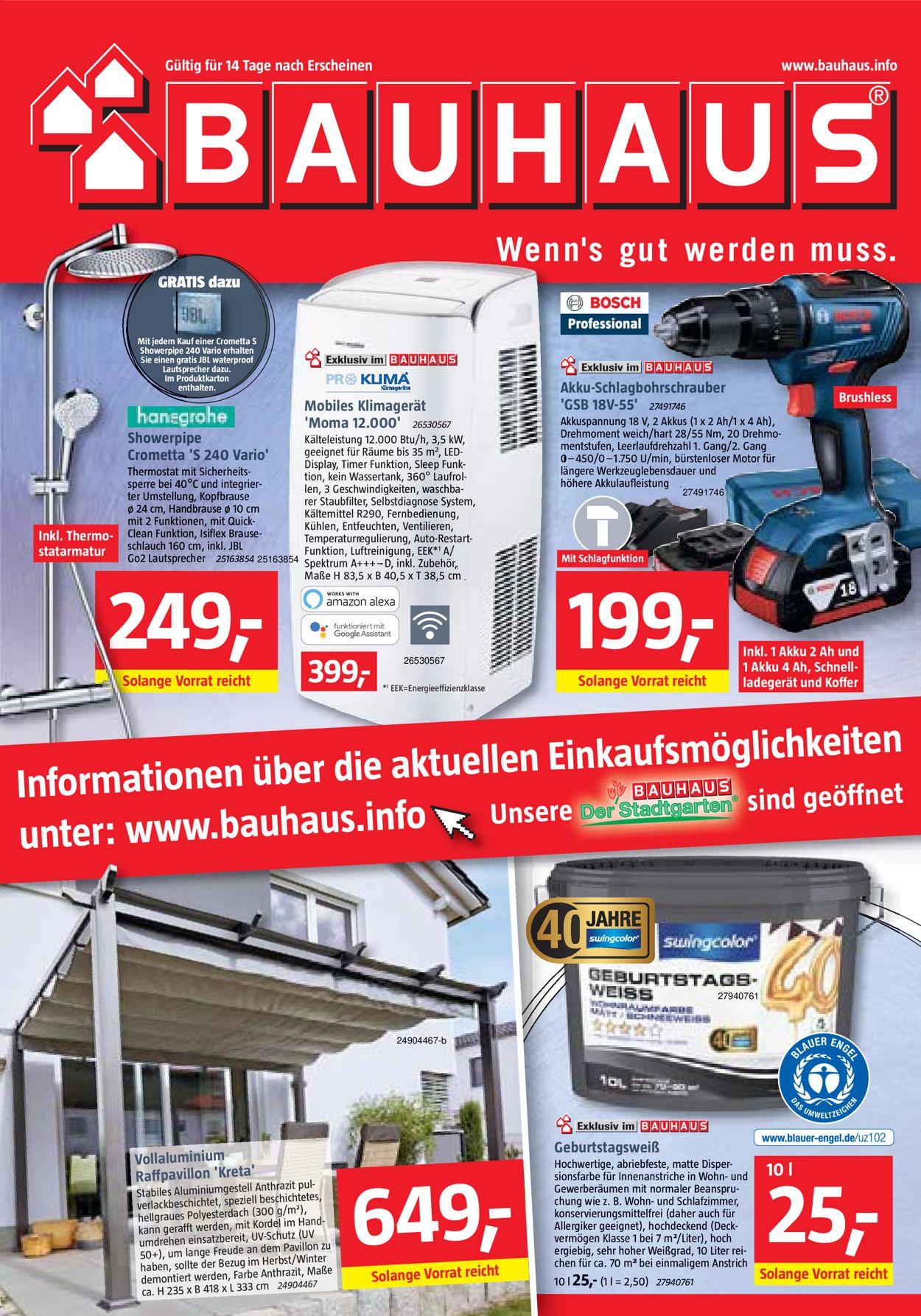 Prospekt Bauhaus vom 19.05.2021