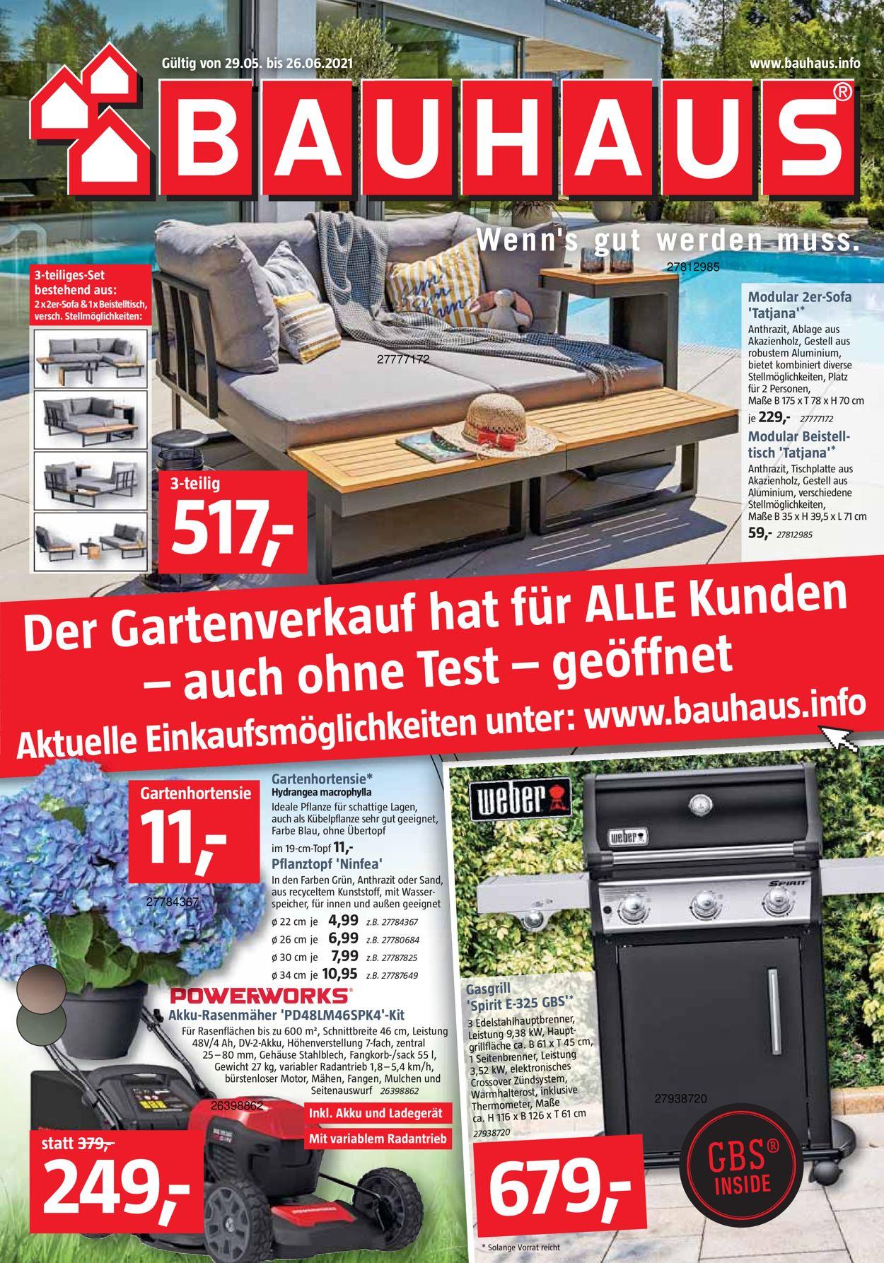 Prospekt Bauhaus vom 29.05.2021