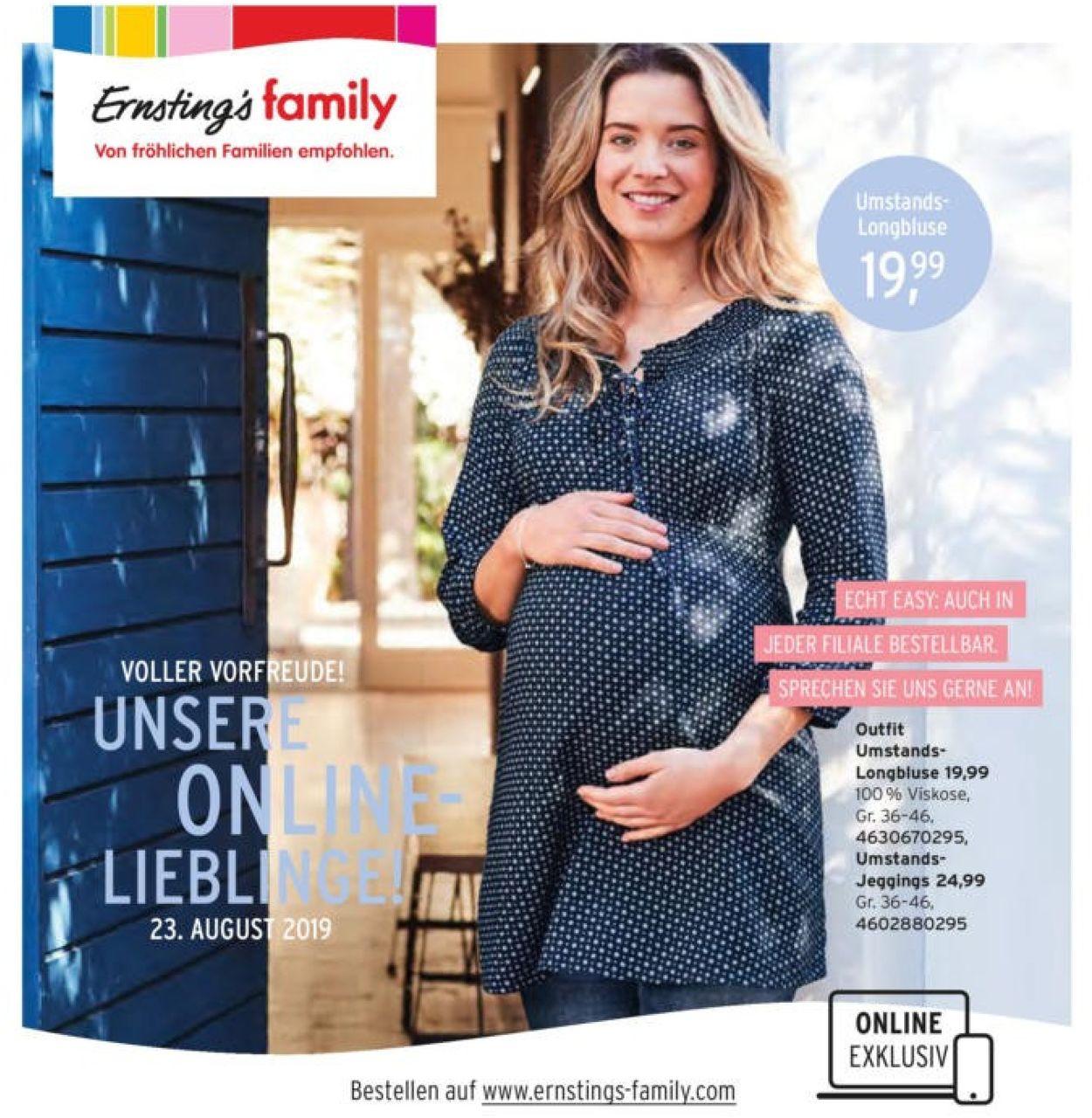 Ernstings Family Aktueller Prospekt 23 08 09 09 2019 Jedewoche Rabatte De
