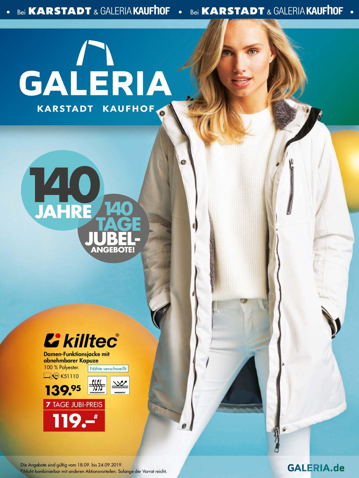 GALERIA Kaufhof Aktueller Prospekt 18.09 24.09.2019