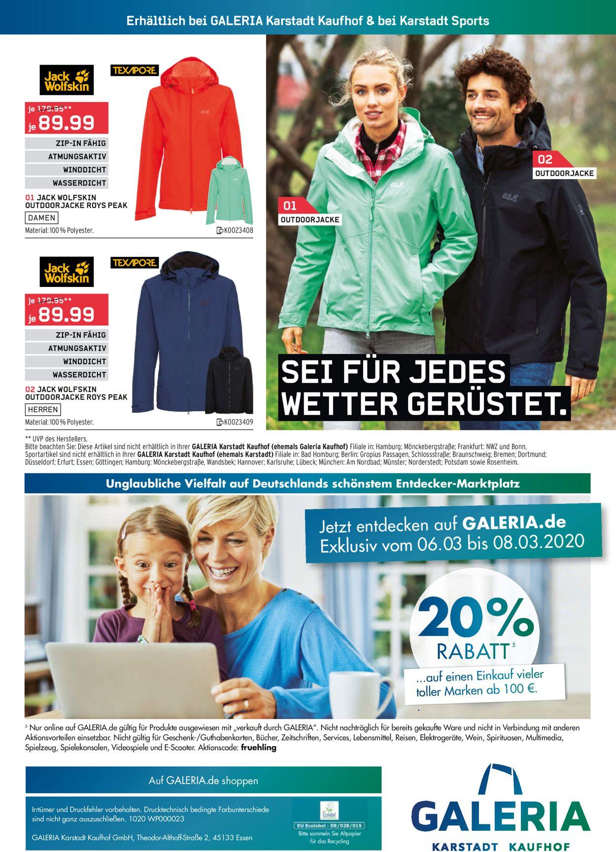 GALERIA Kaufhof Aktueller Prospekt 04.03 10.03.2020 [48