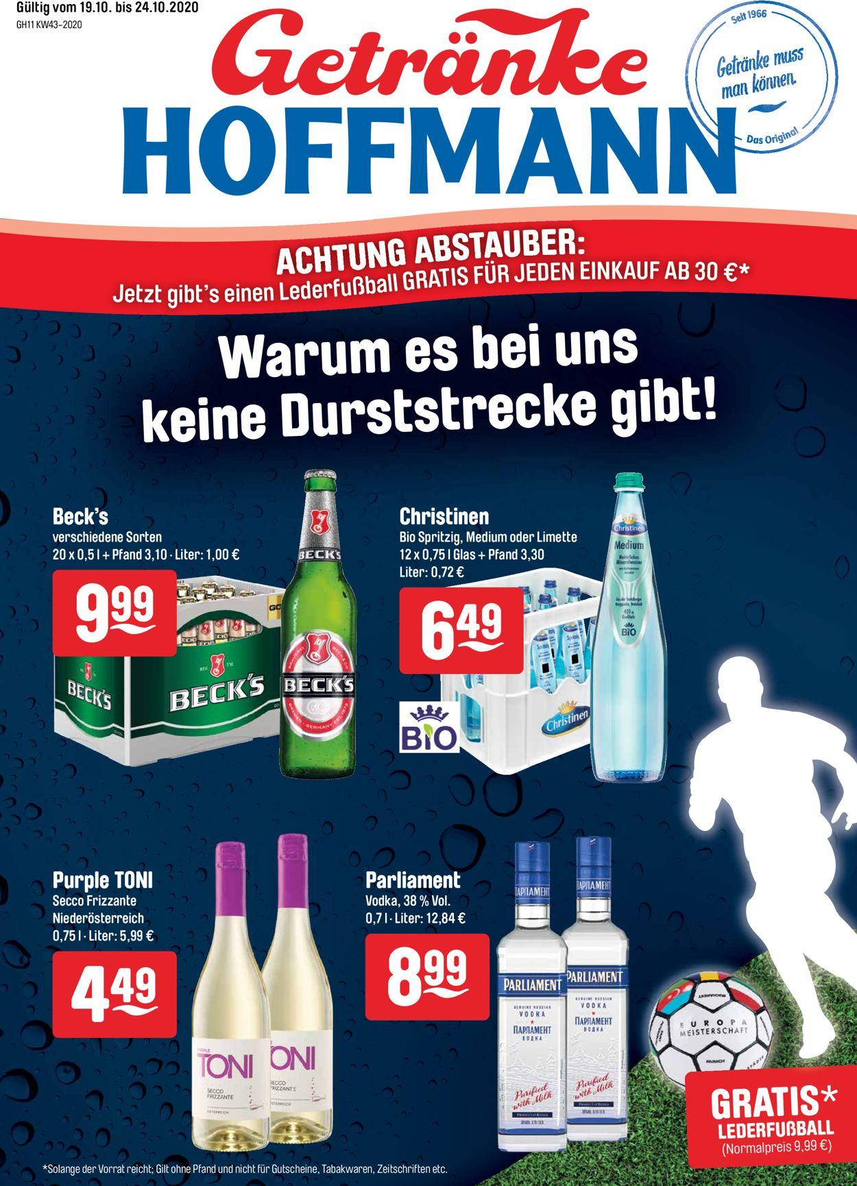Prospekt Getränke Hoffmann vom 19.10.2020