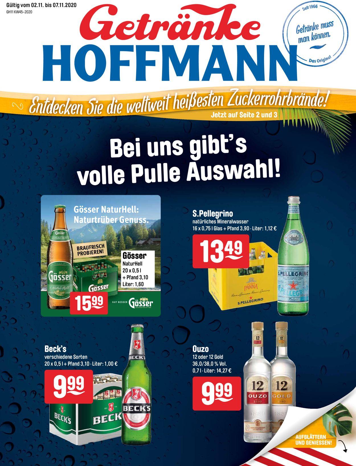 Prospekt Getränke Hoffmann vom 02.11.2020