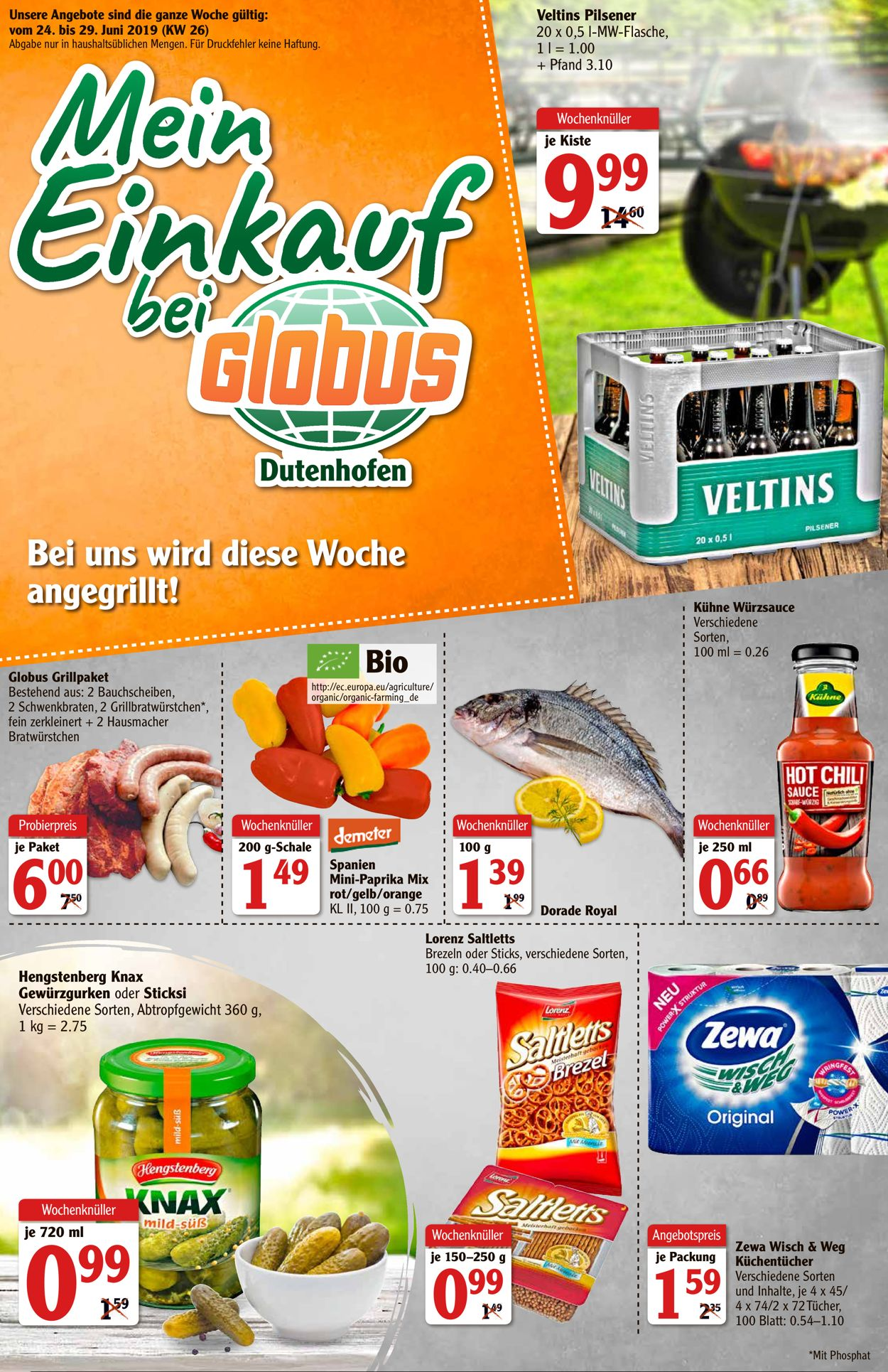 Globus Aktueller Prospekt 24.06 - 29.06.2019 - jedewoche-rabatte.de