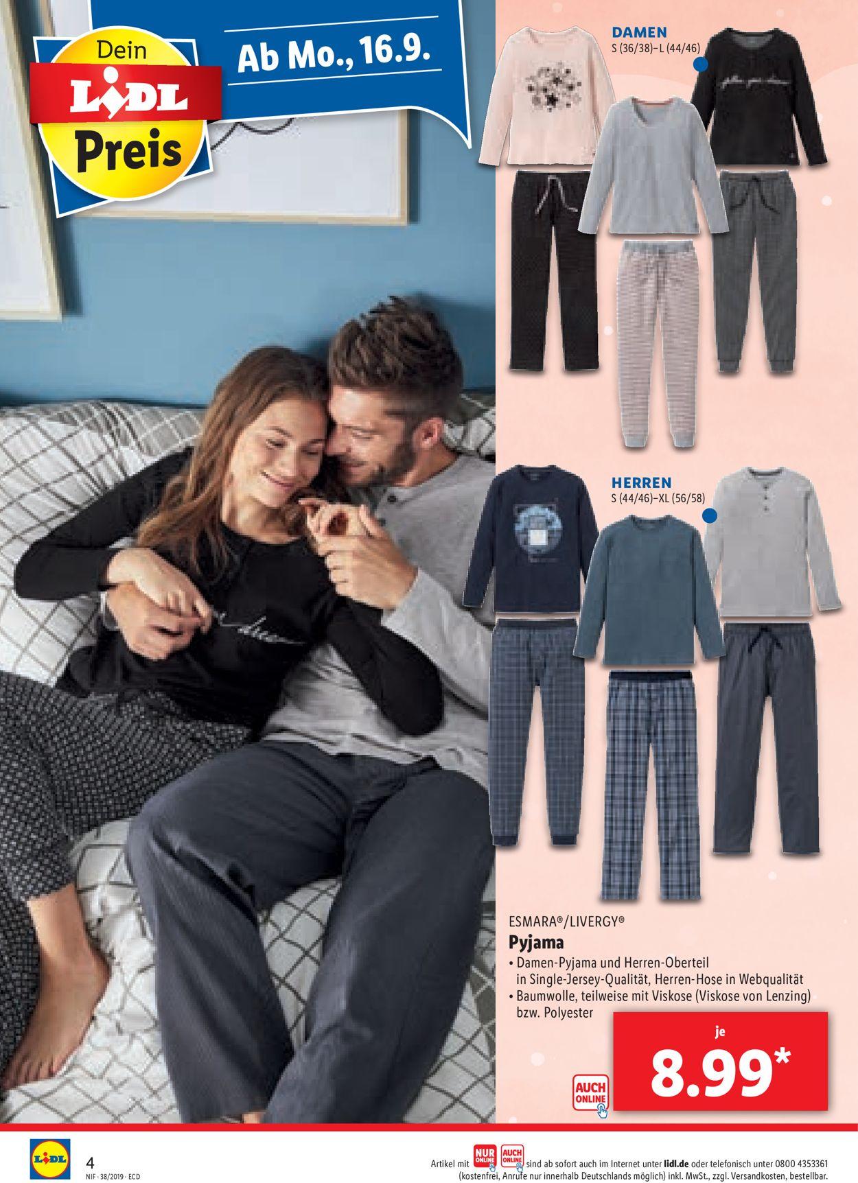 lidl herren pyjama