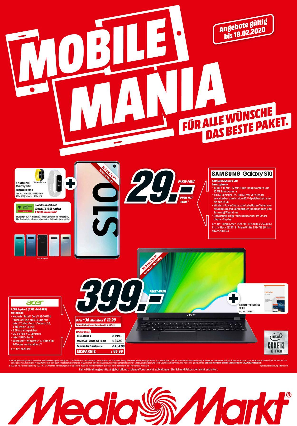 Media Markt Aktueller Prospekt 12.02 - 18.02.2020