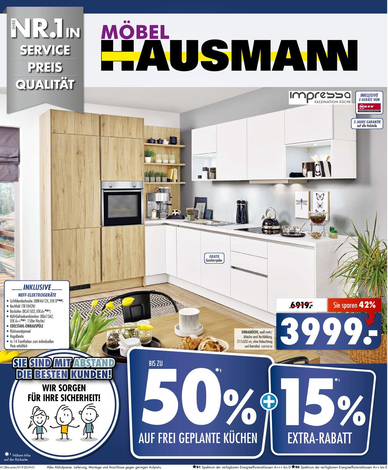 Möbel Hausmann Aktueller Prospekt 17.17 - 17.17.17 - jedewoche