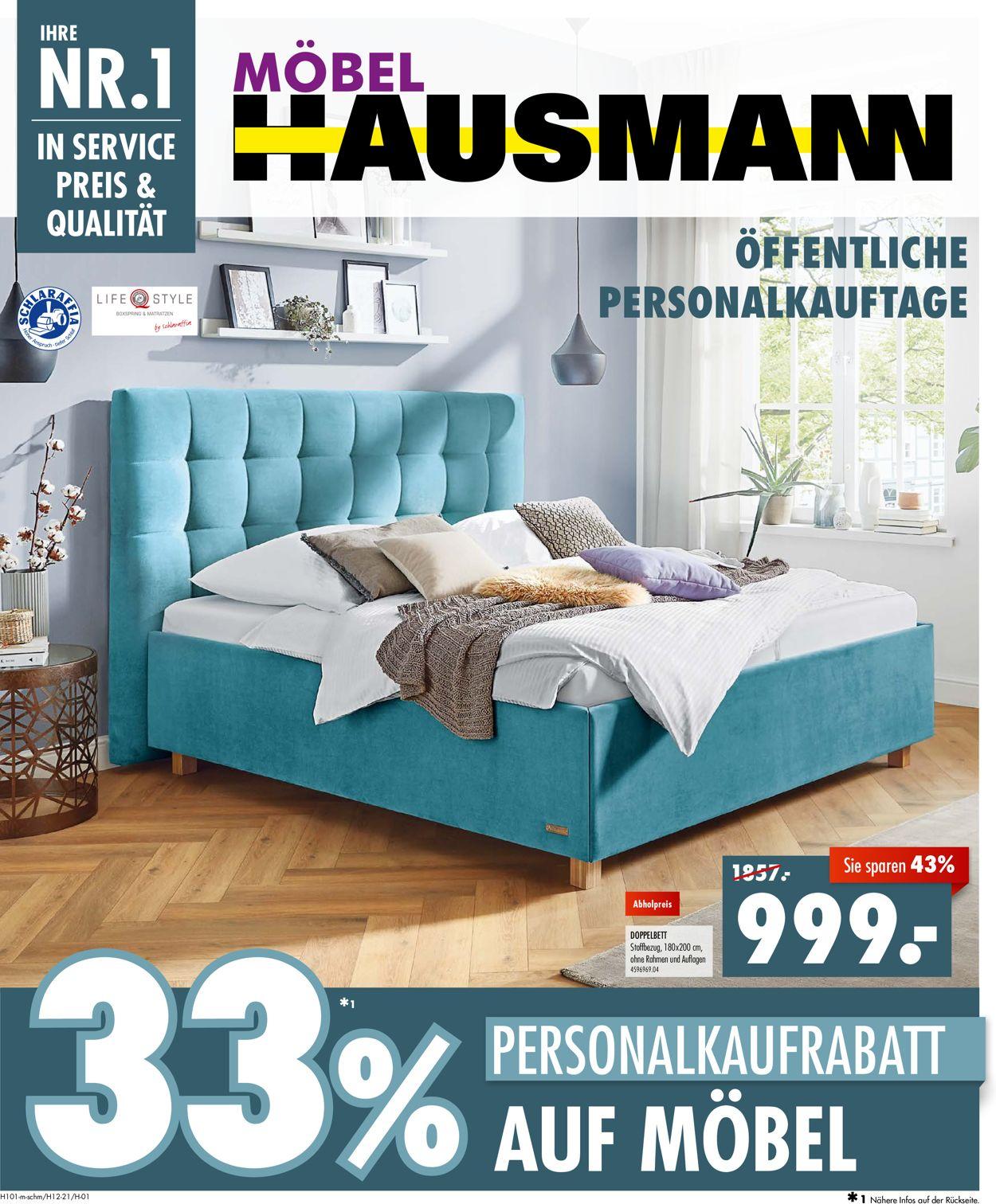 Prospekt Möbel Hausmann vom 07.06.2021