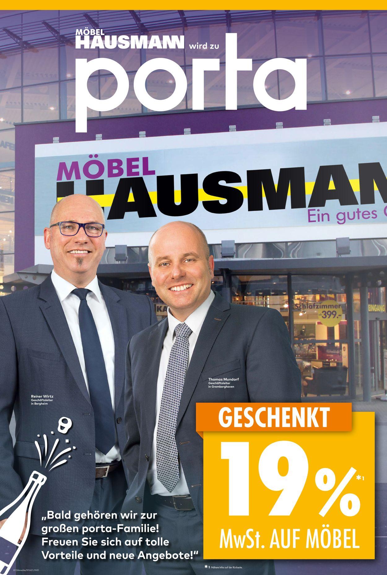 Prospekt Möbel Hausmann vom 28.06.2021