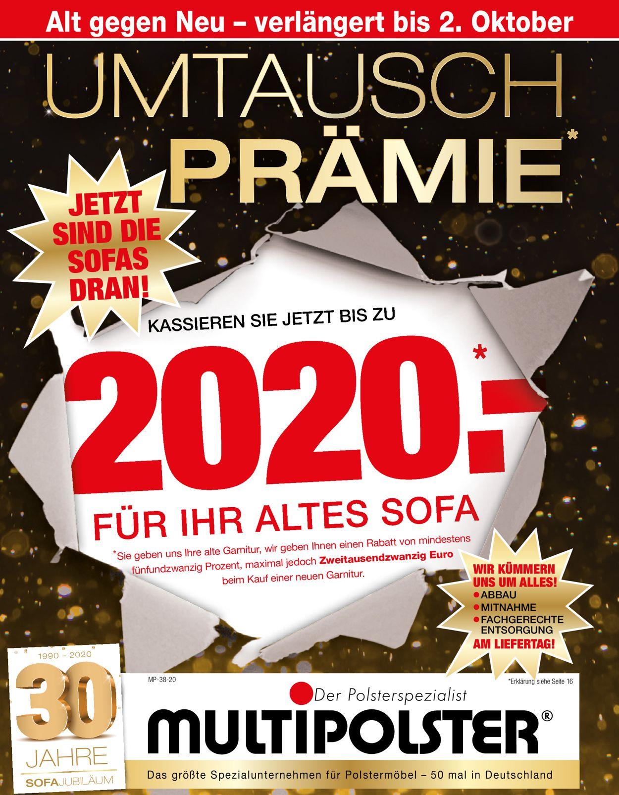 Prospekt Multipolster vom 14.09.2020