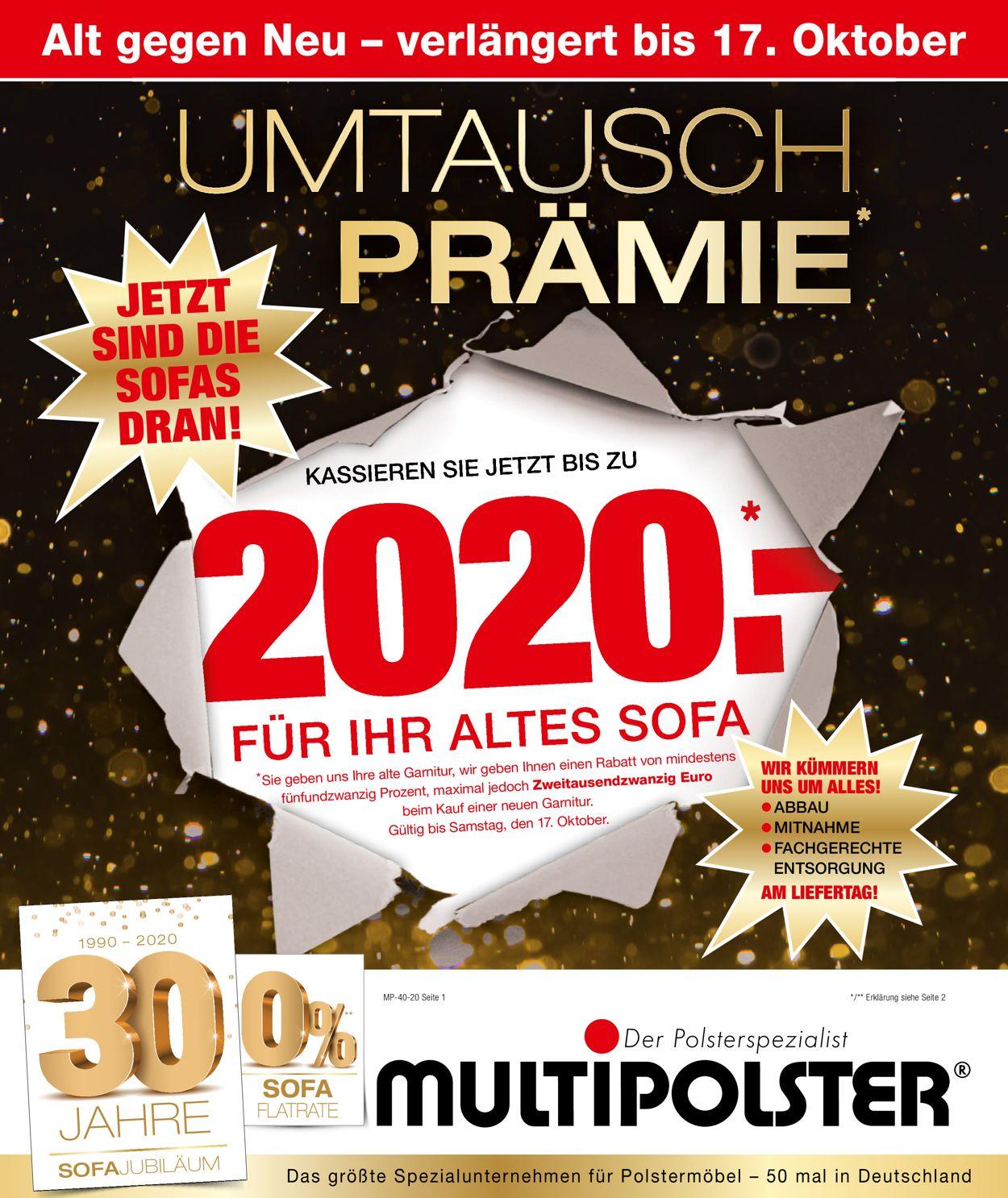 Prospekt Multipolster vom 05.10.2020