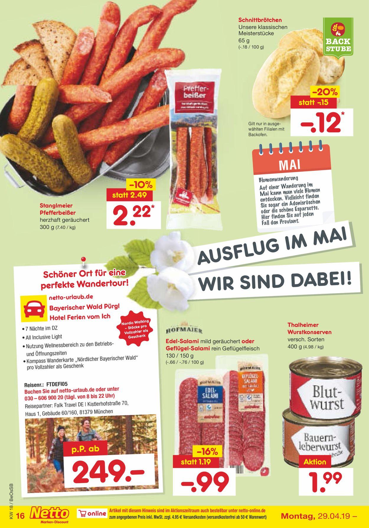 400b1abab30b96 Netto Marken-Discount Aktueller Prospekt 29.04 - 04.05.2019  16 ...