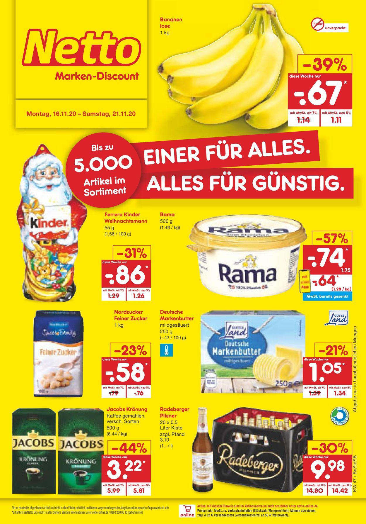 Prospekt Netto Marken-Discount vom 16.11.2020
