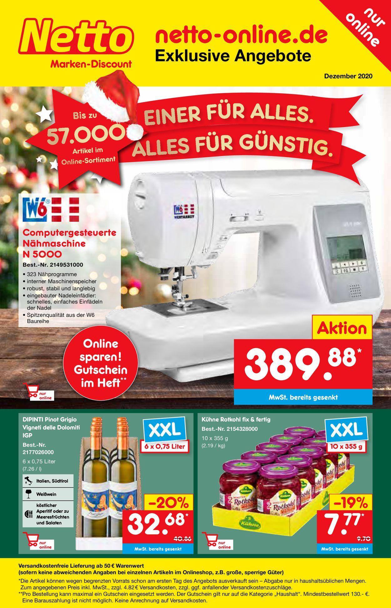 Prospekt Netto Marken-Discount Weihnachtsprospekt 2020 vom 26.11.2020