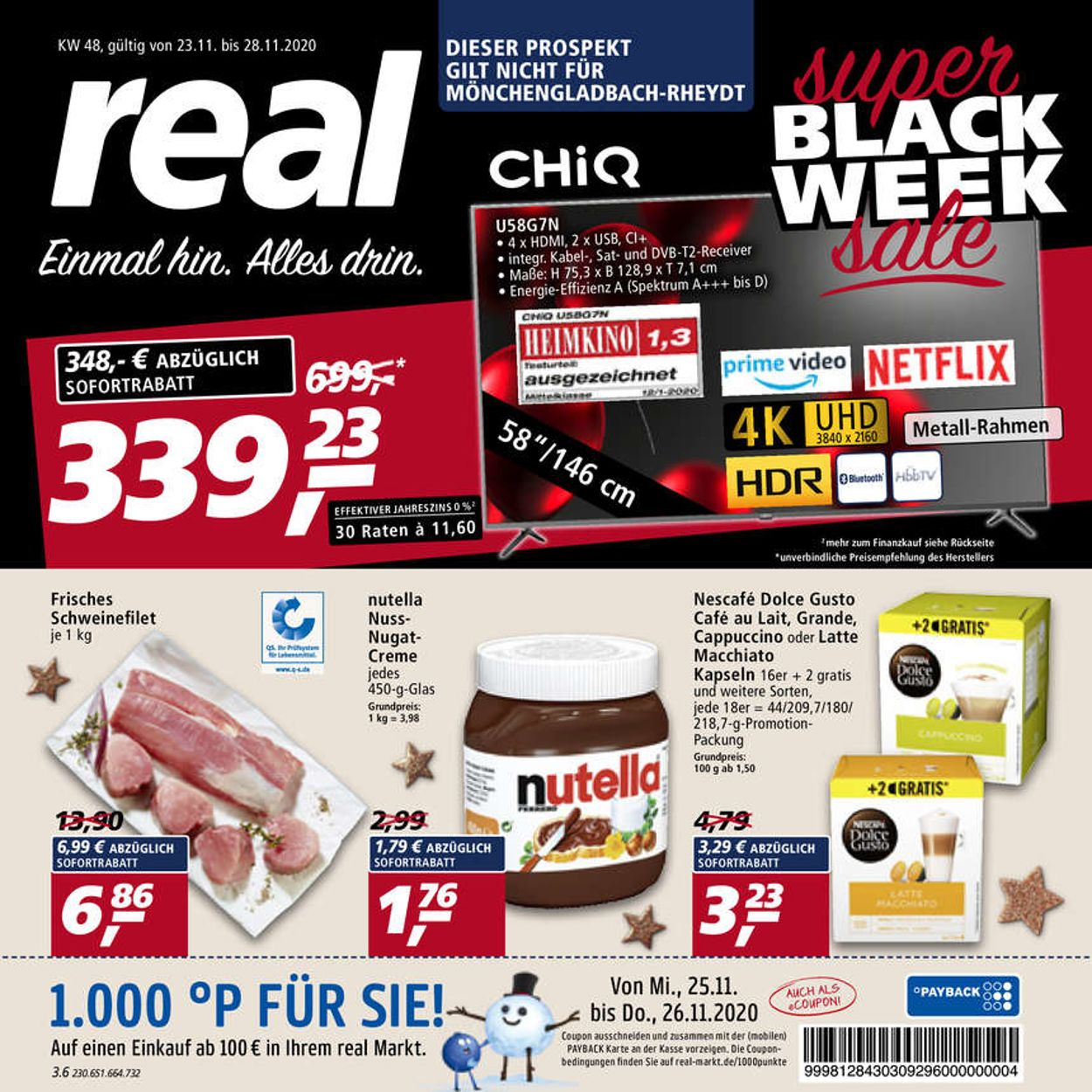 Prospekt Real BLACK WEEK 2020 vom 23.11.2020