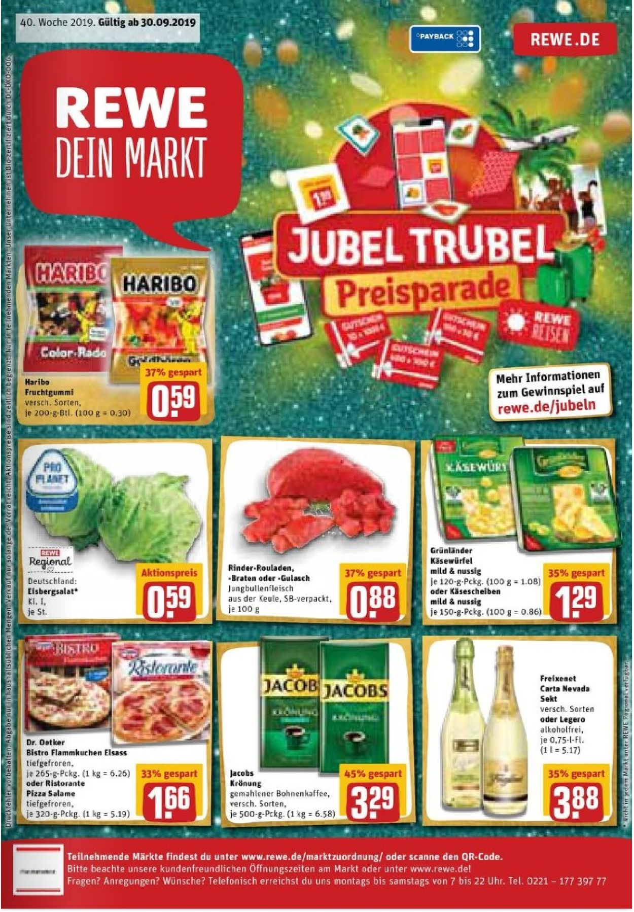 cheapest price hot new products pretty cool Rewe Aktueller Prospekt 30.09 - 05.10.2019 - jedewoche ...