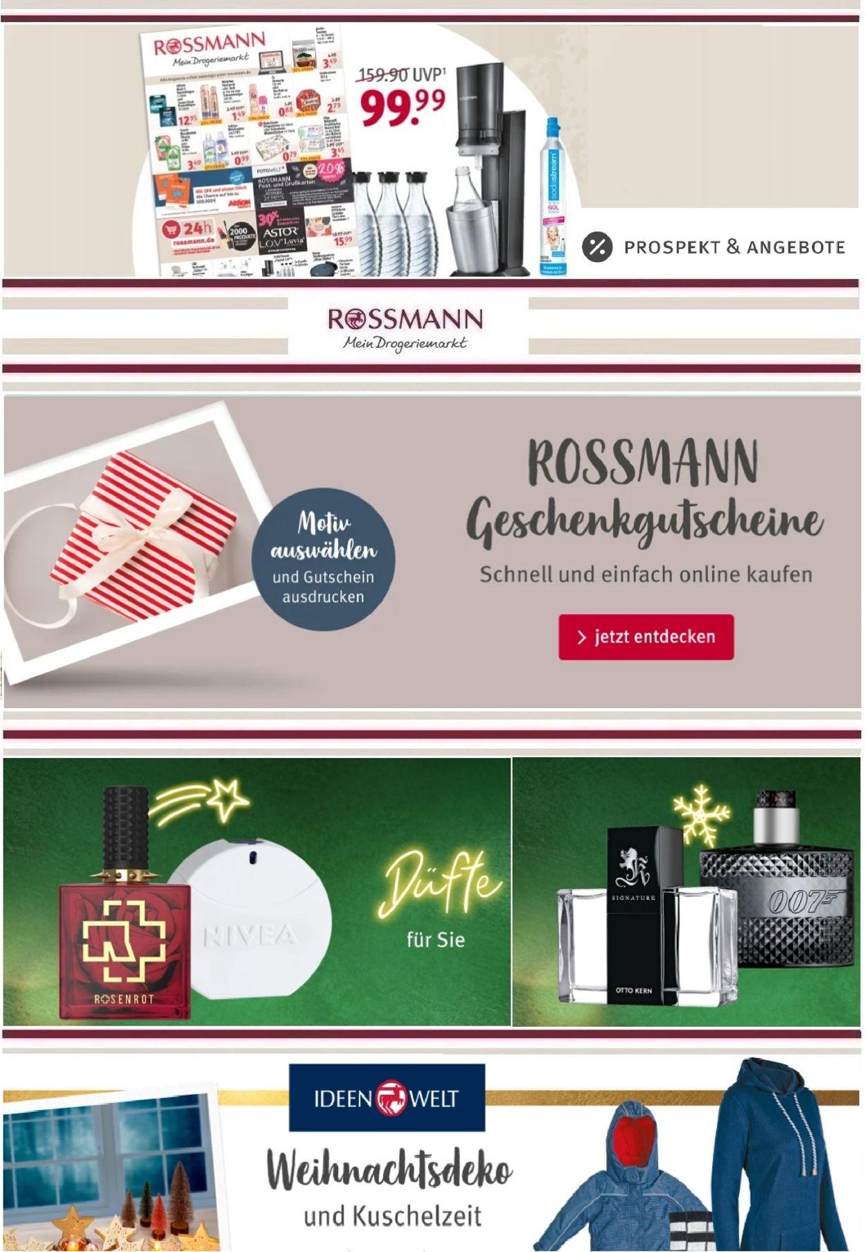 Prospekt Rossmann Weihnachtsprospekt 2020 vom 27.11.2020