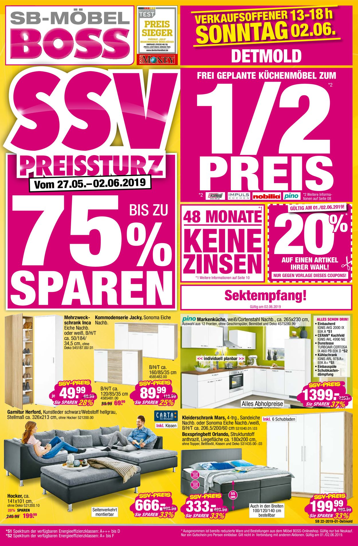 Sb Möbel Boss Aktueller Prospekt 2705 02062019 Jedewoche