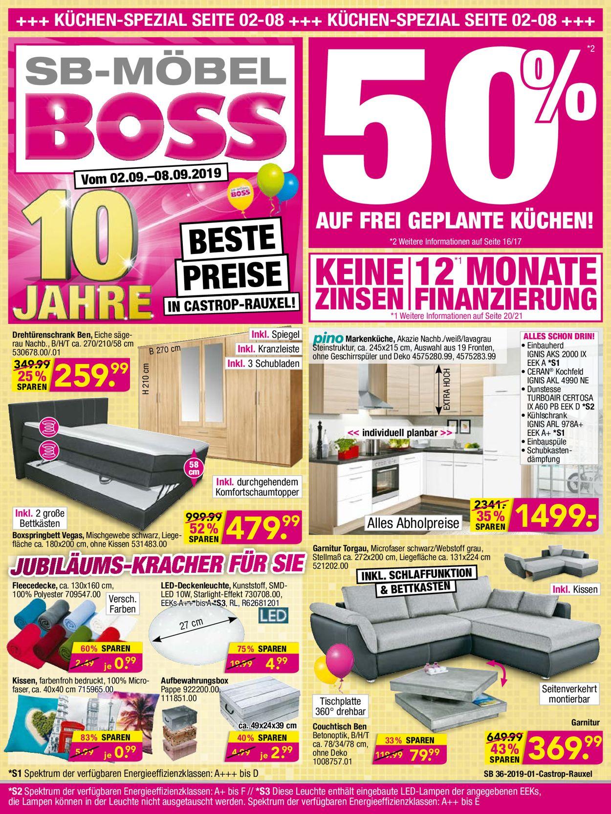 SB Möbel Boss Aktueller Prospekt 02.09 - 08.09.2019 ...