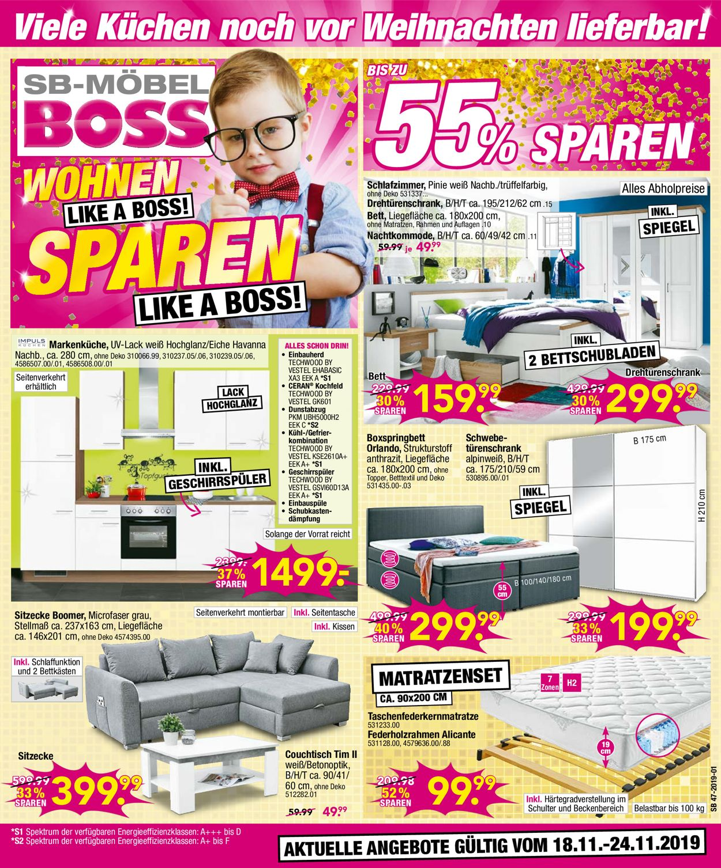 Sb Mobel Boss Aktueller Prospekt 18 11 24 11 2019 Jedewoche