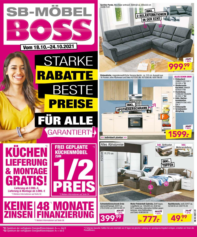 SB Möbel Boss prospekt
