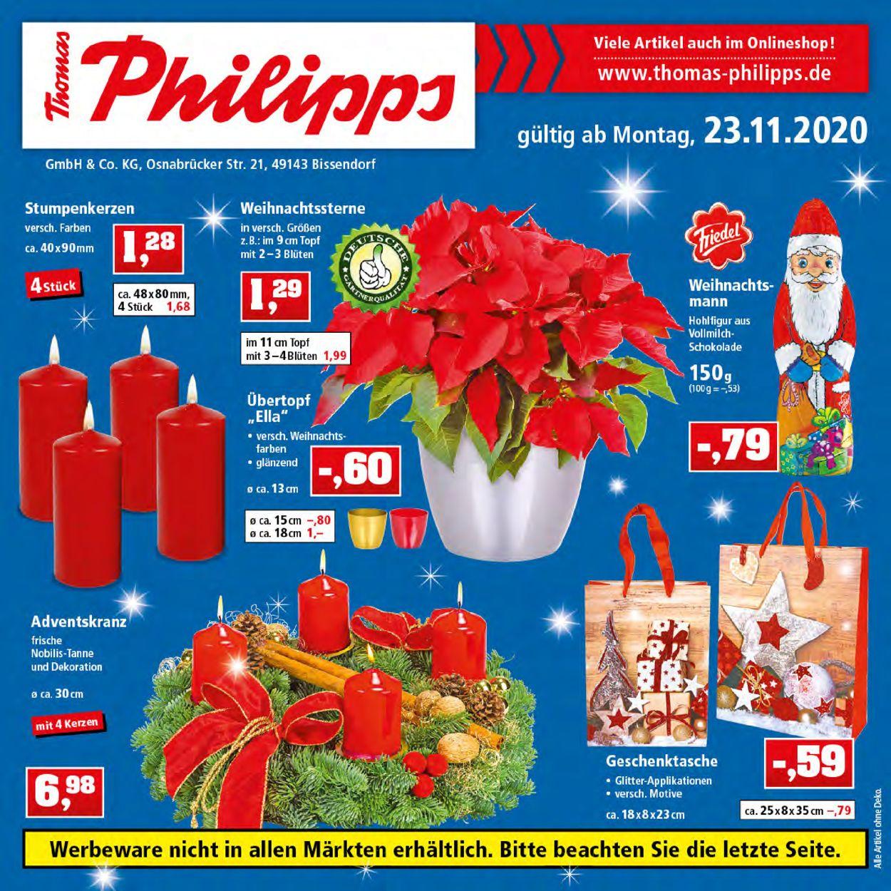 Prospekt Thomas Philipps Weihnachtsprospekt 2020 vom 23.11.2020