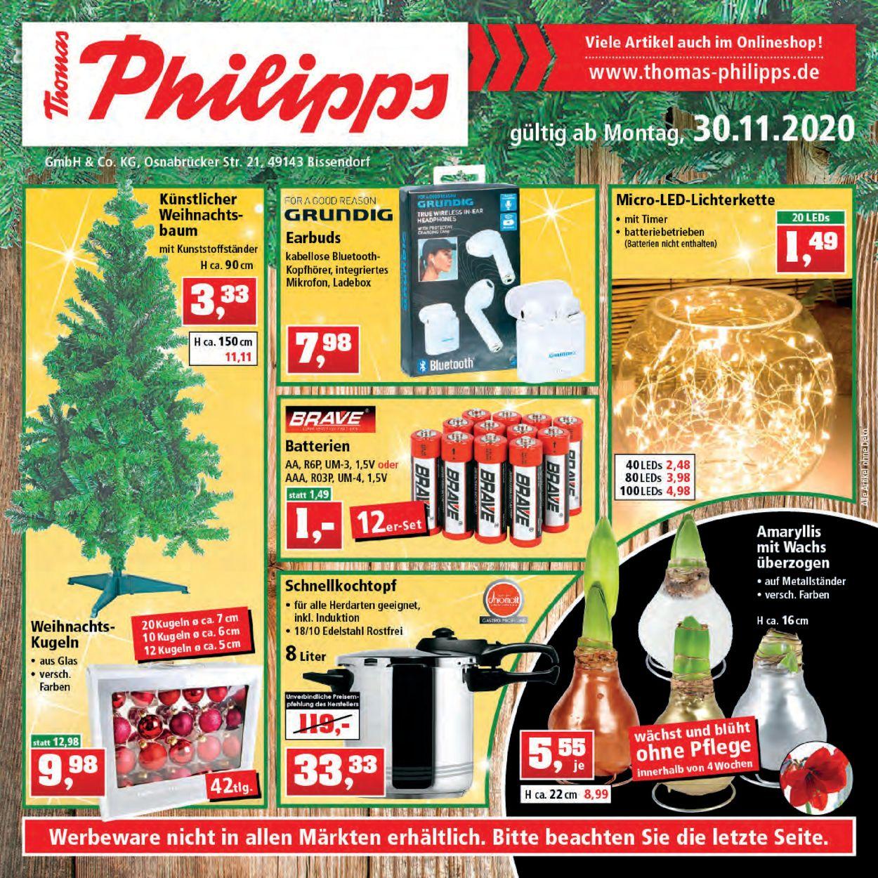 Prospekt Thomas Philipps Weihnachtsprospekt 2020 vom 30.11.2020