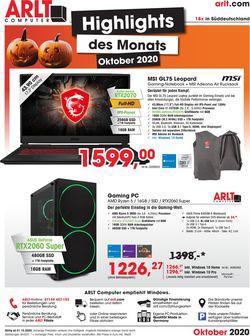 Prospekt ARLT Computer vom 01.10.2020