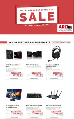 Prospekt ARLT Computer vom 14.06.2021