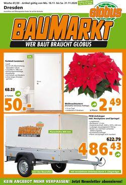 Prospekt Globus Baumarkt - Black Friday 2020 vom 16.11.2020