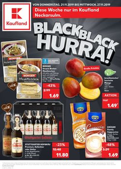 Prospekt Kaufland - Black Friday 2019 vom 21.11.2019