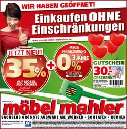 Aktueller Prospekt Möbel Mahler