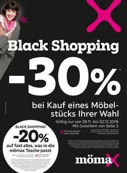 Prospekt Mömax - Black Friday 2019 vom 28.11.2019