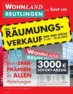 Prospekt Wohnland Reutlingen vom 31.07.2020