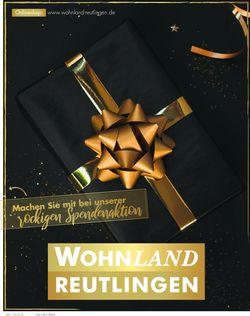 Aktueller Prospekt Wohnland Reutlingen
